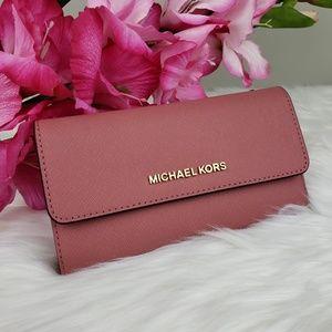 Michael Kors Bags - 🌺NWT Michael Kors LG Trifold Wallet Rose pink MK